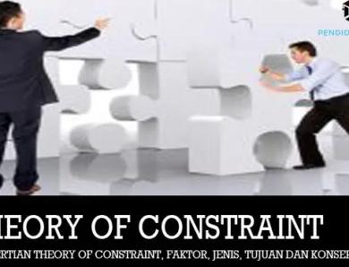 Pengertian Theory Of Constraint, Faktor, Jenis dan Tujuan