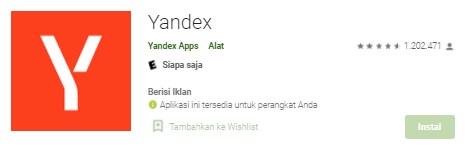 Yandex Blue China